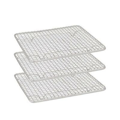 6x Cake Cooling Rack / Steam Pan Grate 125x260mm Chrome Plated with Legs