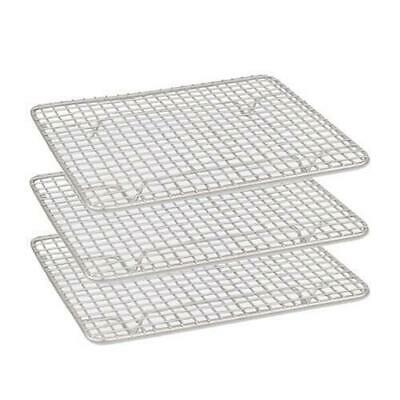 6x Cake Cooling Rack / Steam Pan Grate 200x250mm Chrome Plated with Legs