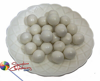 SHIMMER WHITE GUMBALL CANDIES  -  22MM  -  500grams  -  Large Gumballs