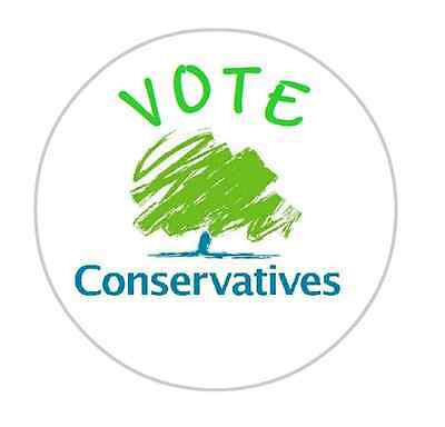 36 Personalised Conservative Party Stickers Labels 40mm