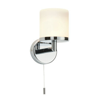 Saxby 39608 - Lipco - 28W Modern Chrome Switched IP44 Bathroom Wall Light