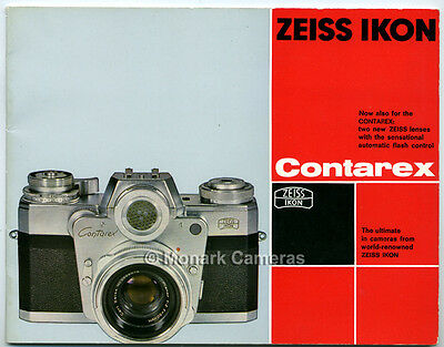 Zeiss Ikon Contarex Bullseye Camera System Brochure, Other Catalogues Listed