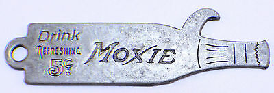 Drink Refreshing Moxie Bottle Opener Key Chain With Antique Patina #C18