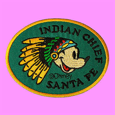 Indian Chief Santa Fe Mickey Mouse Cartoon Embroidered Jacket Iron On Patch