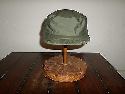U.s Military Style Od Green Combat Hat/cap Lightweight Rip-Stop Size 7 3/4