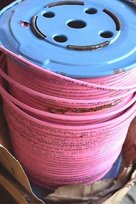 NEW 500' Triangle Wire 10 AWG Solid Copper 600V THHN/THWN Pink Oil Resistant NOS