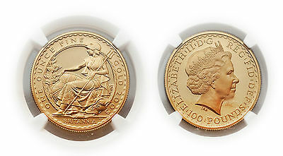 Great Britain 2005 Seated Britannia 1 oz Gold NGC PF68