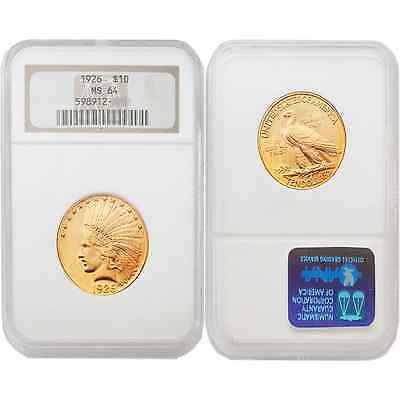 USA 1926 Indian Head Gold $10 Gold NGC MS64