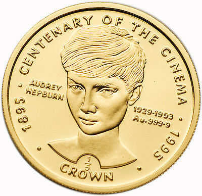 UK Gibraltar 1996 Audrey Hepburn 1/5 oz Gold Proof Coin