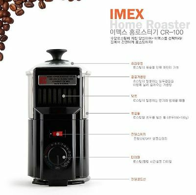 Coffee beans Home Green coffee roaster machine roasting waste heat circulation