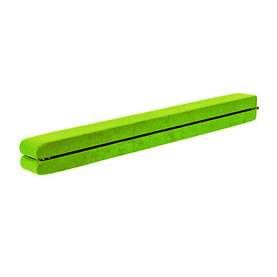 Lime Green Suede Gymnastics Folding 8ft Balance Beam 2.4 Metre Home Gym Training
