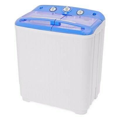 Portable Mini Washer Dorm RV Cycle Compact 9 lbs Wash Dry Spin Machine Laundry