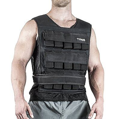 Titan Fitness Adjustable Weighted Vest 40 lb Resistance Weight Training Football