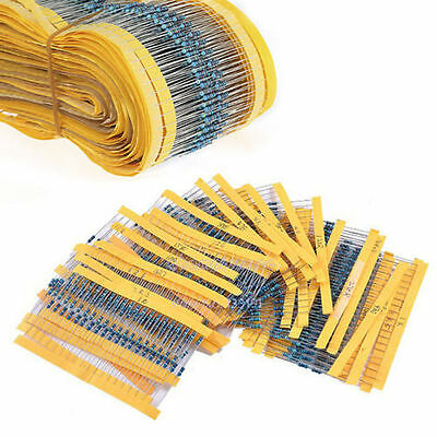 300PCS 30 Values 1/4W 1% Metal Film Resistors Resistance Assortment Kit Set Hot