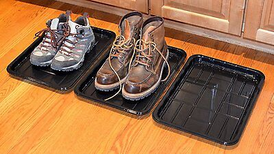 """3-PACK of Utility Trays for Boot, Pet,Garden,Shoe 15.7""""x 11.8""""x1.0"""" by PackTerra"""