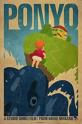 Ponyo Animated Film PAF01 A3 POSTER ART PRINT BUY 2 GET 3RD FREE UK SELLER