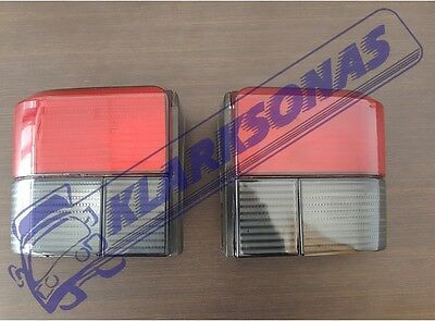 Vw Transporter T4 Caravelle 90-03 Smoked Red Rear Tail Lights Lamps Pair Set L+R