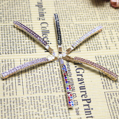 Fashion Women Crystal Rhinestone Hair Clip Barrette Hairpin Bobby Pin Jewelry