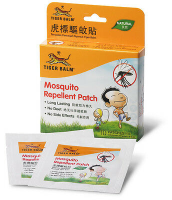 TIGER BALM - 1 Box 10 Patches Mosquito