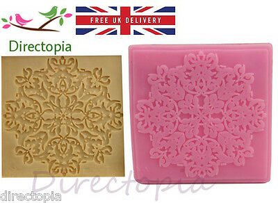 Vintage Relief Silicone Lace Embosser Cake Fondant Decorating Baking Press Mould