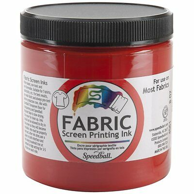 Special Fabric Screen Printing Ink 8 oz, Colour: Red by Speedball [465281] AOI