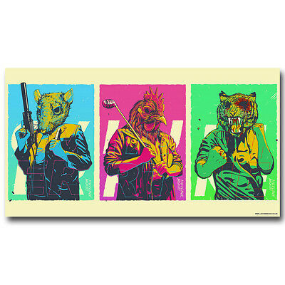 Hotline Miami Hot Game Silk Fabric Poster 13x24 inch