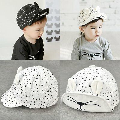 Cute Kids Toddler Infant Boys Baby Girls Hat Casquette Peaked Baseball Beret Cap