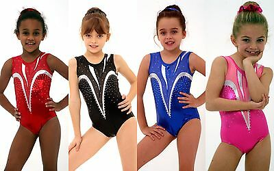 *Fan-Tastic* Girls Gymnastics leotard Acro Acrobatics Rhythmic Mystique/Mesh