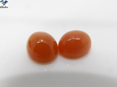 1x Mondstein - Orange Oval cabochon 10x12mm (2400)