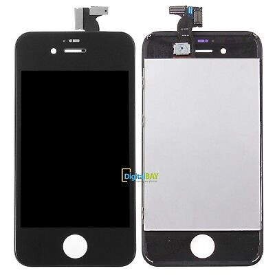 Lcd Display Touch Screen Retina + Frame Per Apple Iphone 4S Nero Schermo Vetro