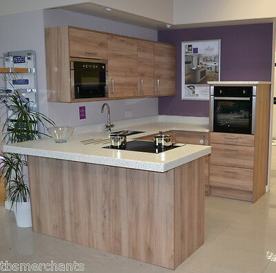 New Ex-Display small walnut Kitchen with built in oven and fridge freezer