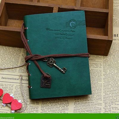 Turquoise Retro Pu Leather Vintage Journal Diary Travel NoteBook String Gift Lea