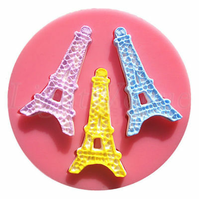 Silicone Eiffel Tower Soap Mold Cake Icing Decor Fondant Cake Pastry Mould