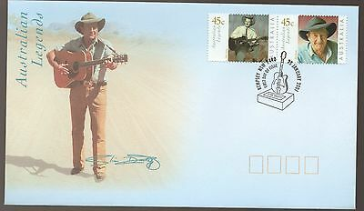 2001 Slim Dusty Australian Legend Singer FDC with Guitar Kempsey Cancel