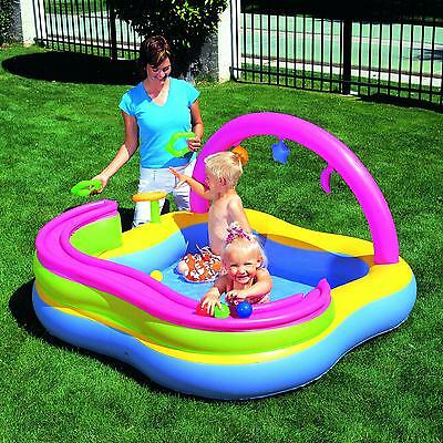 Bestway Childrens/Kids Inflatable Paddling Pool Outdoor Play Centre Ball Pit