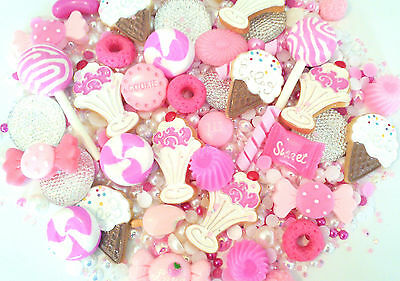 5/10/20pc pink sundae ice cream candy cabochon decoden scrapbook kit PHONE CASE