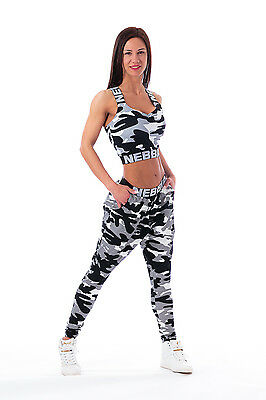 """NEBBIA Sport Pants """" Camo Puddel"""" 204 tarn white camouflage weiss Leggings"""