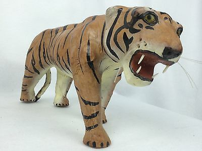 Tiger Walking Figurine Statue Animal Cat Wild Decorative Collection 13 in