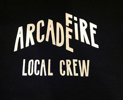 Rare Authentic Arcade Fire Local Crew T Shirt Black XL