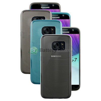 Lot of 3 Black/Blue/Clear Soft Rubber Case for Android Phone Samsung Galaxy S7
