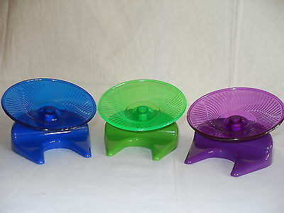 Flying Saucer Exercise Wheel Toy Safe & Silent  - Small 'N' Furry