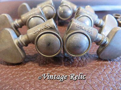 aged GROVER 102NV Milk Bottle nickel Rotomatic tuners fit Gibson Les Paul 18:1