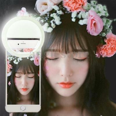 Portable Luxury LED Light Up Selfie Luminous Camera Ring For iPhone Mobile Phone