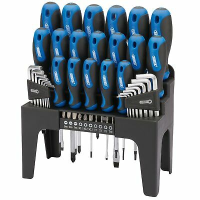 Draper Soft Grip Screwdriver, Hex Allen Key And Torx TX Bit Set 44 Piece - 81294