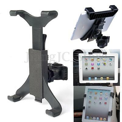 "for Universal 7""-10"" Tablet Microphone Music Mic Stand Clamp Mount Holder Cradle"