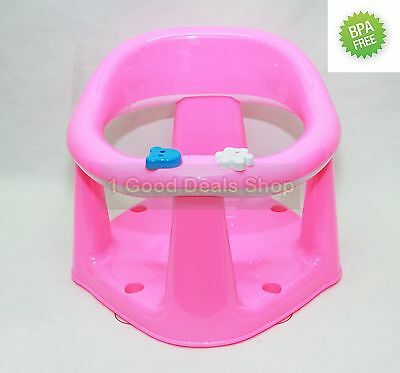 Premium Baby Bath Seat Bathroom Dinning Play Support Bar Strong Toddler Pink