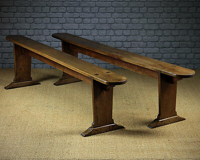 Antique Pair Mid 19th.c. French Cherrywood Benches c.1850.
