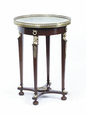 Antique French Empire Marble & Ormolu Occasional Table c.1830