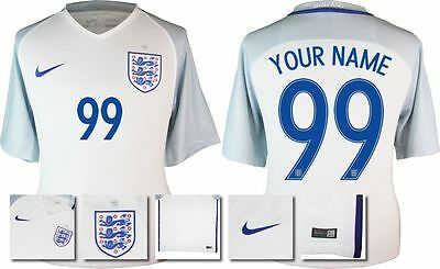 *2016 - Nike ; England Home Shirt Ss / Personalised = Size*
