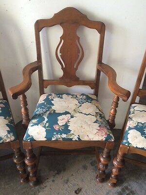 Set of 6 Antique Dining Room Chairs